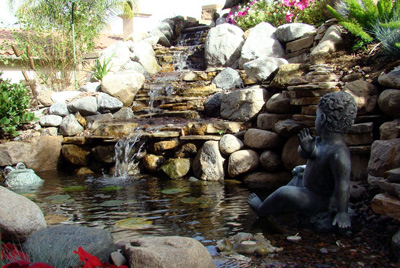 lanscaping garden waterfall